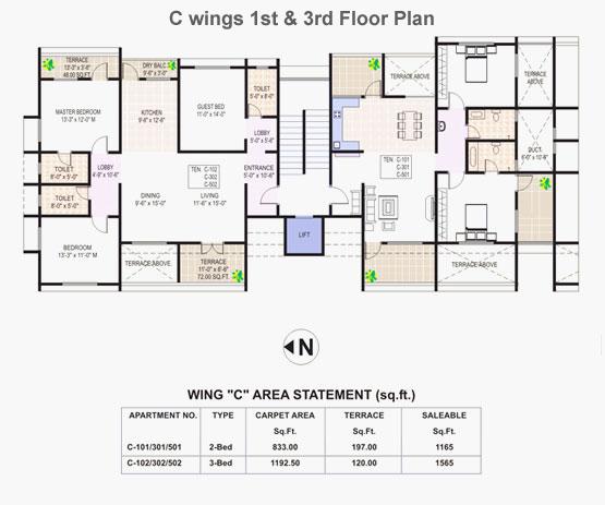 Tiara Floor PlanTiara Residence Palm Jumeirah